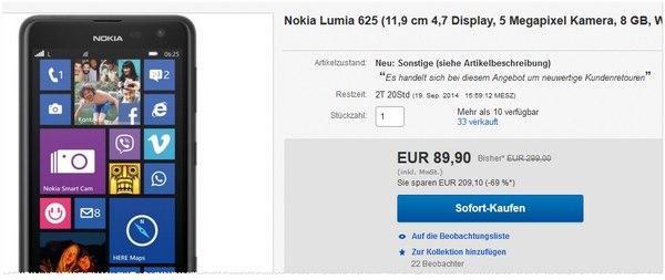 Nokia Lumia 625 B-Ware