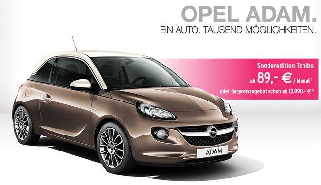 Opel Adam Leasing Angebot in der Tchibo Edition