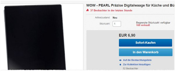Pearl Digitalwaage günstiger
