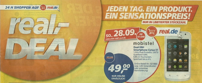 Real Deal des Tages 28.9.2014
