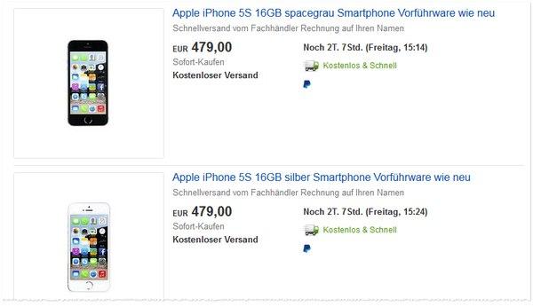 Reduzierte iPhone 5S
