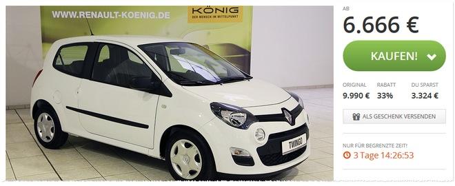 Renault Twingo Angebot bei Groupon