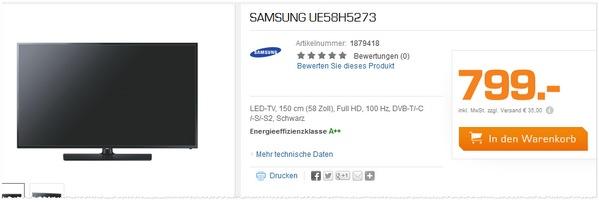 Samsung UE58H5273 kaufen
