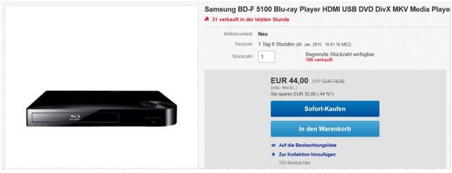 Samsung BD-F5100 Test