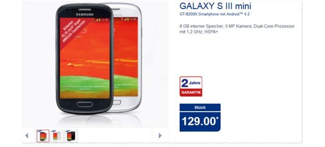 Samsung Galaxy S3 mini Aldi Nord 25.9.2014