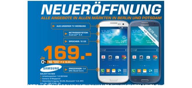Samsung Galaxy S3 Neo Eröffnungsangebot