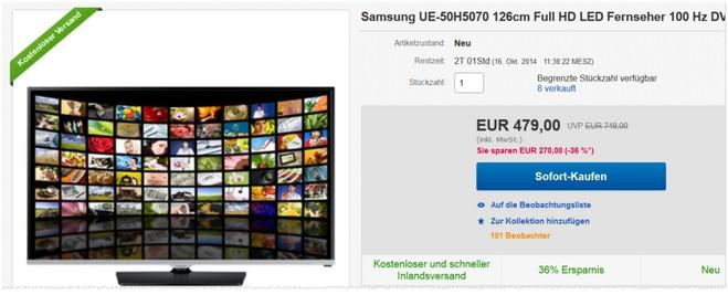 Samsung UE50H5070 Preis