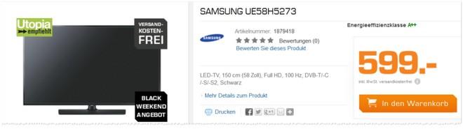 Samsung UE58H5273 Test