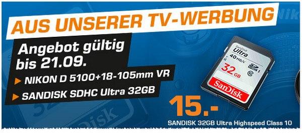 SanDisk SDHC Ultra 32 GB