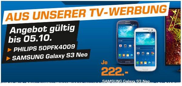 Saturn Angebot fürs Samsung Galaxy S3 Neo