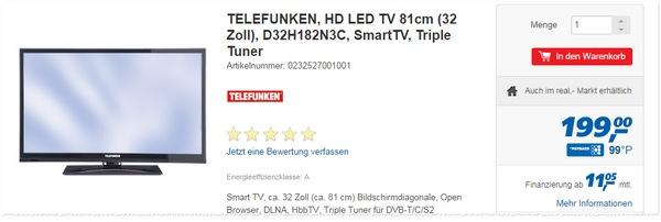 Telefunken D32H182N3C als Real Angebot