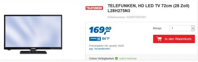 Telefunken L28H275N3 Real