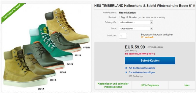 Timberland Earthkeepers Stiefel