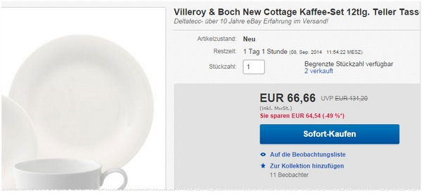 Villeroy & Boch New Cottage Kaffee-Set 12-teilig