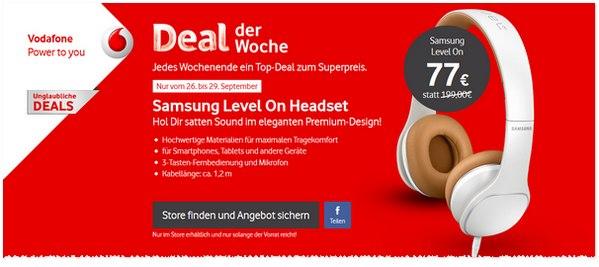 Vodafone Deal der Woche: Samsung Level-on EO-OG900