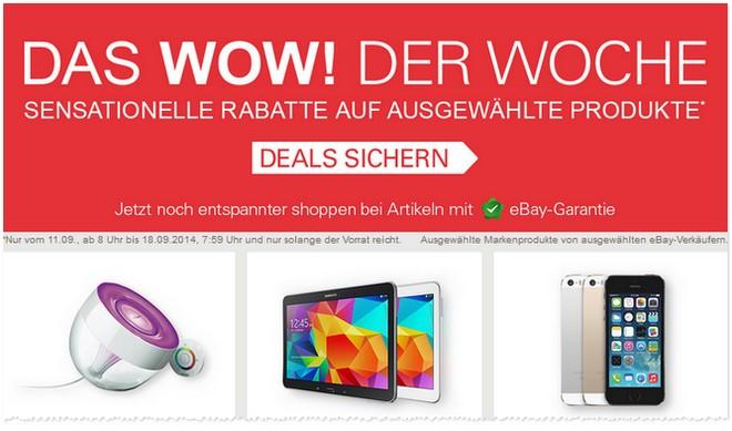 WOW der Woche bei eBay ab 11.9.2014