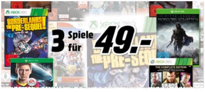3 Spiele für 49 € bei Media Markt