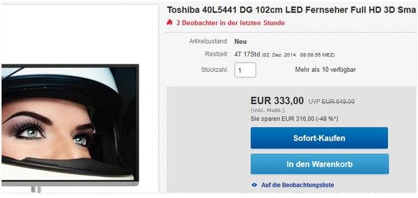 Toshiba 40L5441DG