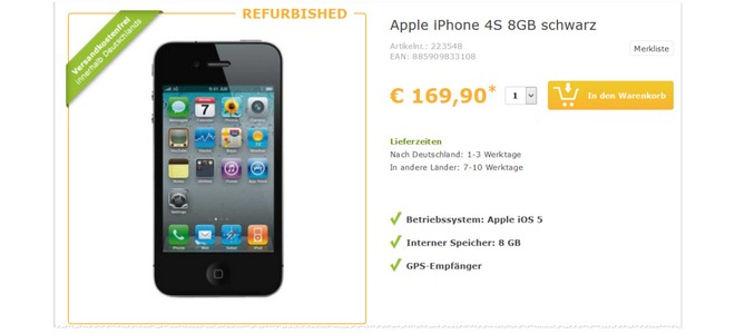 Apple iPhone 4S Refurbished