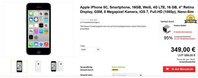 Apple iPhone 5C als Neuware günstiger
