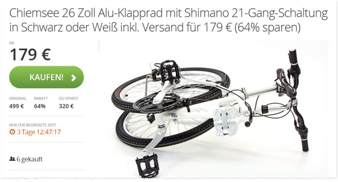 Chiemsee Klapprad Groupon Newsletter