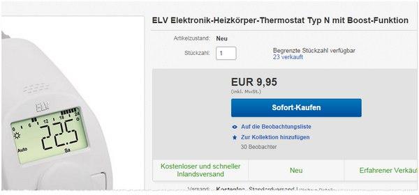 ELV Elektronisches Heizkörperthermostat