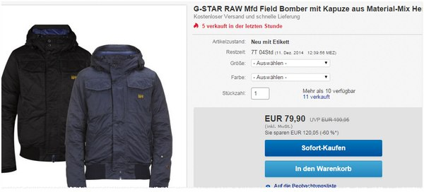 G-Star RAW Field Bomber