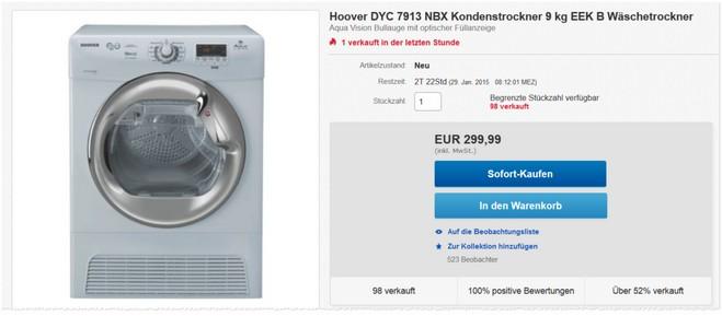 Hoover DYC 7913 NBX Tests