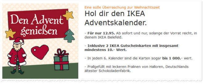 IKEA Advenstkalender