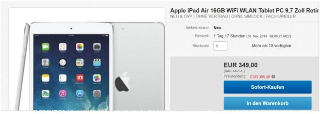 iPad Air Angebot günstig