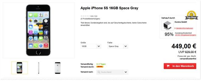 iPhone 5S Austauschgeräte