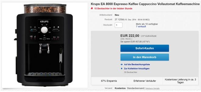Krups EA 8000 Vollautomat
