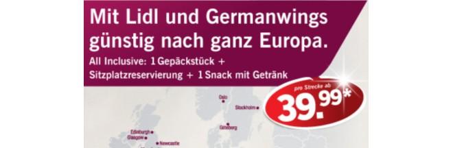 LIDL Germanwings Flug-Ticket