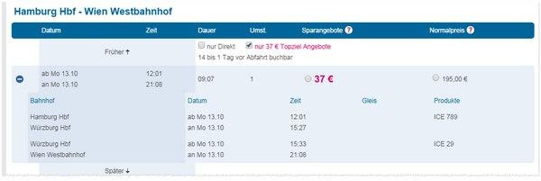 LTUR Bahn-Fernweh-Tickets