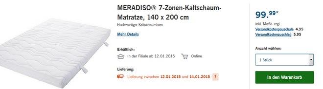 Meradiso 7-Zonen-Kaltschaum-Matratze