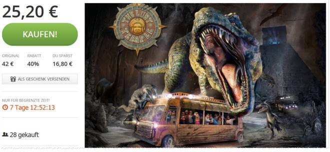Movie Park Ticket-Gutschein von Groupon