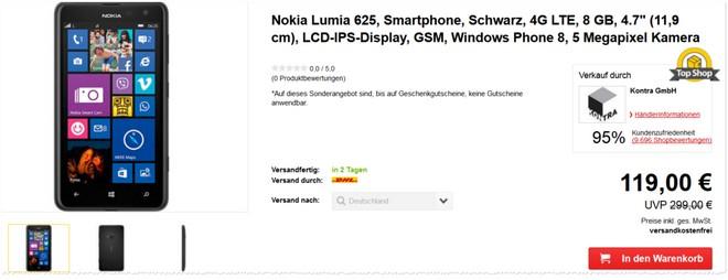 Nokia Lumia 625 ohne Vertrag Tests