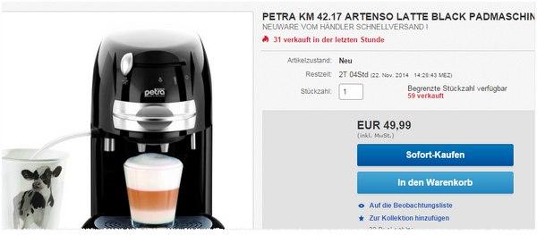 Petra KM 42.17 Padmaschine ist auf 49,90 € reduziert