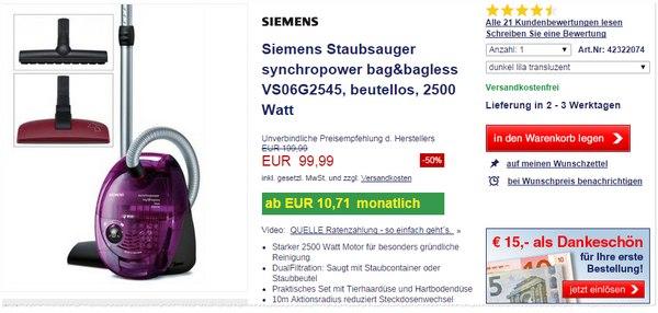 Quelle Kuh des Tages Siemens VS06G2545