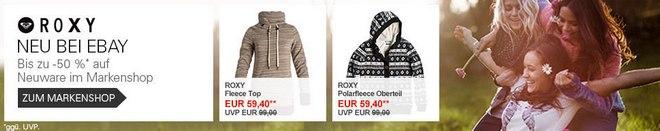 Das Roxy Outlet ist neu bei eBay