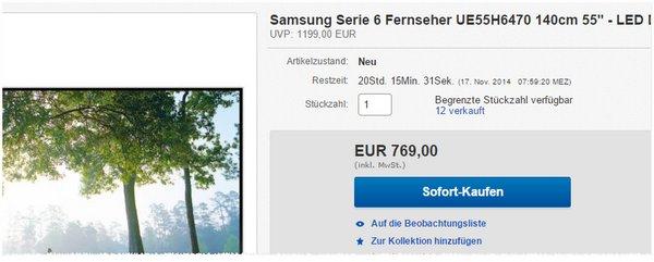 Samsung UE55H6470