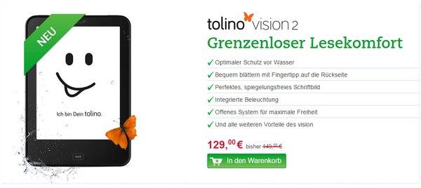 Tolino Vision 2 reduziert bei Thalia