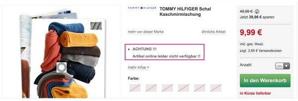 Tommy Hilfiger Schal Ausverkauf bei GALERIA Kaufhof