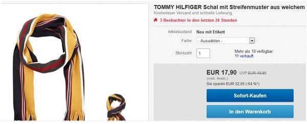 Tommy Hilfiger Schal bei eBay (Avantime) für 17,90 €