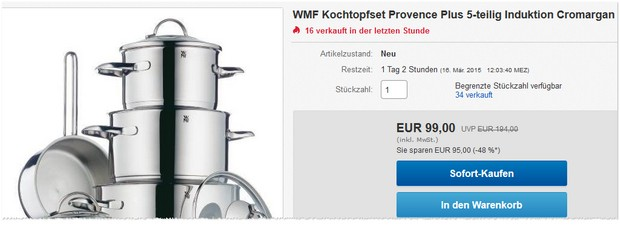 WMF Provence Plus Kochtopf-Set