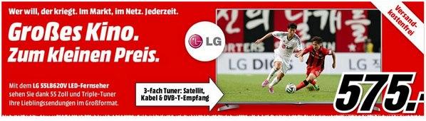 LG 55LB620V bei Media Markt für 575 Euro