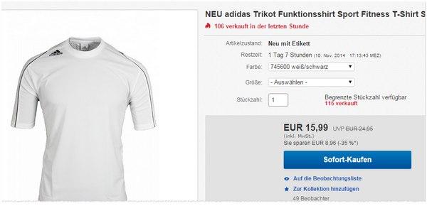 Das Adidas Squadra Trikot kostet bei eBay nur 15,99 €