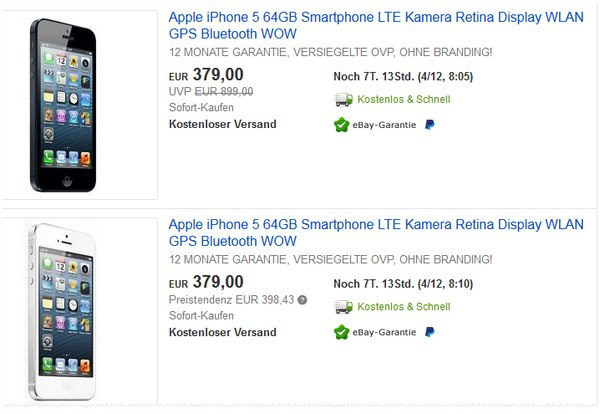 Apple iPhone 5 ohne Vertrag