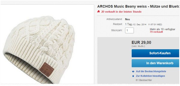 Archos Beany mit Bluetooth