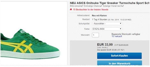 Asics Onitsuka Sneaker Angebot bei eBay